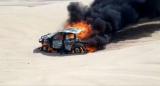 Машина гонщиці Toyota згоріла під час третього етапу «Дакара»